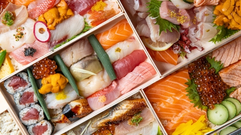 sunset sushi bento
