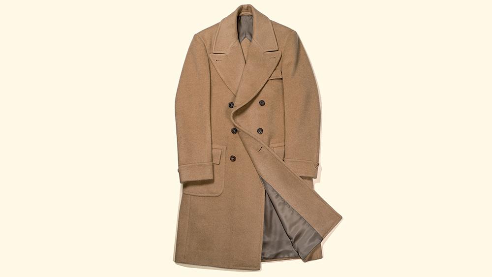 The coat, laid flat.