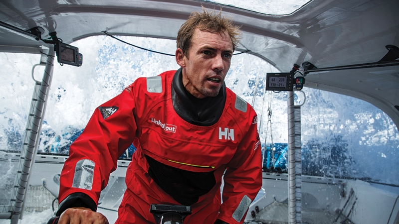 French skipper Thomas Ruyant is training onboard LinkedOut for the Vendee Globe sailing race off Groix, France, on JUNE 1, 2020. (Photo by Pierre Bouras / TR Racing)#FR# GROIX, FRANCE - 1 JUIN: Le skipper français Thomas Ruyant s'entraine à bord de LinkedOut pour le Vendee Globe au large de Groix, France, le 1 Juin 2020. (Photo Pierre Bouras / TR Racing)