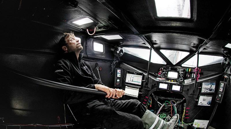 Skipper during the Vendée