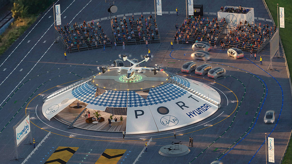 Hyundai and Urban Air Port's Air-One eVTOL hub