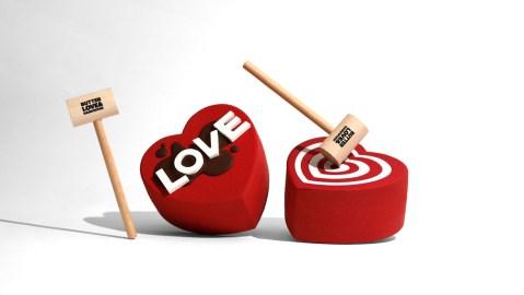 chocolate smashable hearts