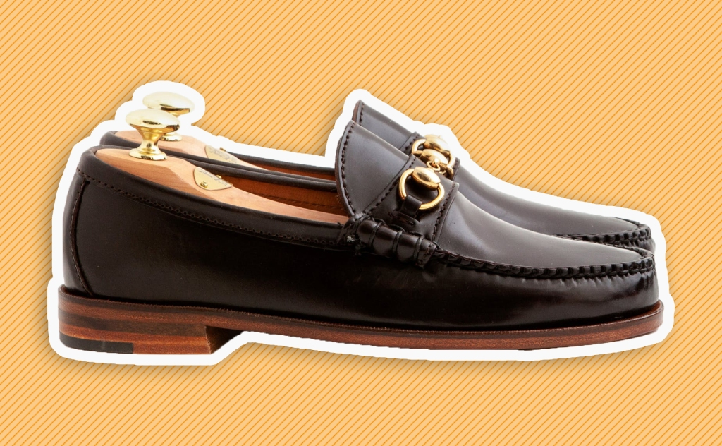 Leffot & Rancourt's 'Ivy Bit' loafer in color 16 cordovan.