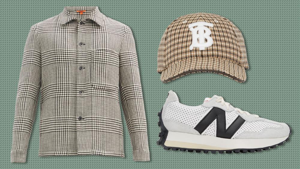 Barena jacket, Burberry hat, Casablanca x New Balance sneakers