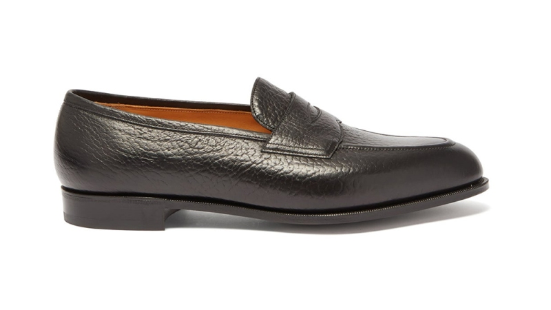 Edward Green 'Picadilly' Grained Leather Loafers