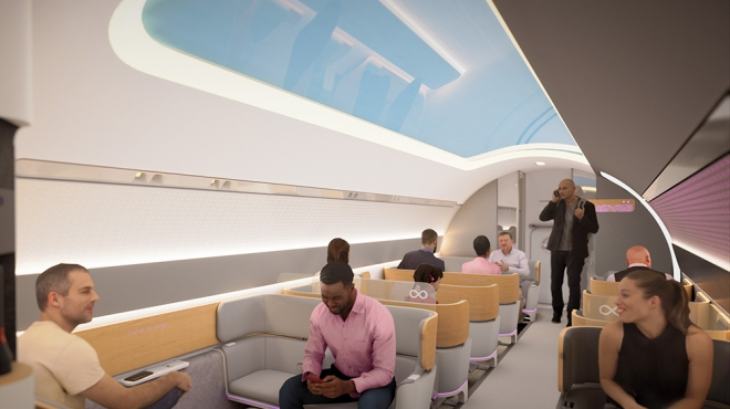 What it will look like inside one of the Virgin Hyperloop's pods
