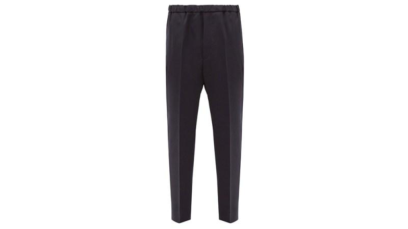 Jil Sander Elasitcated-Waist Wool Trousers