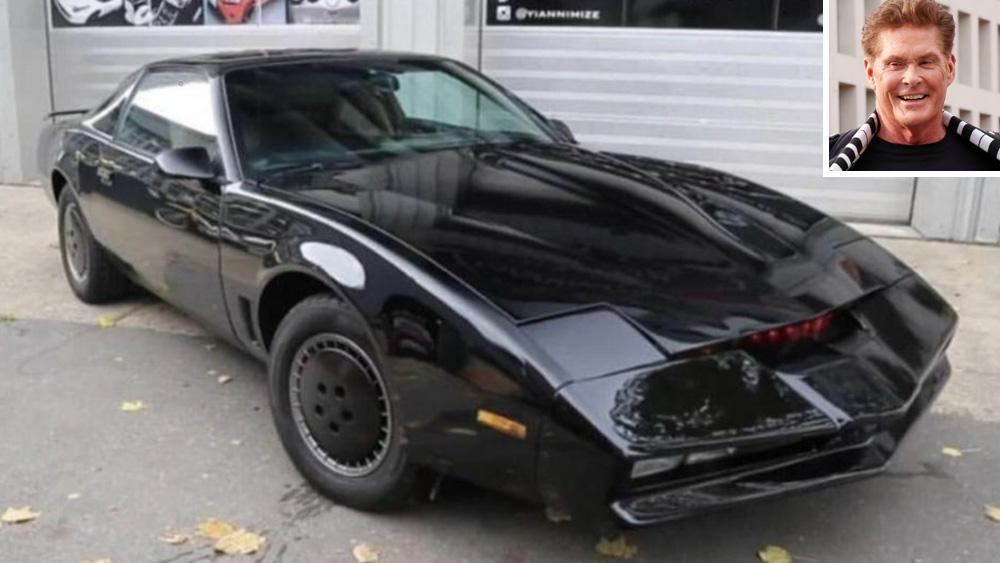 David Hasselhoff and his KITT car