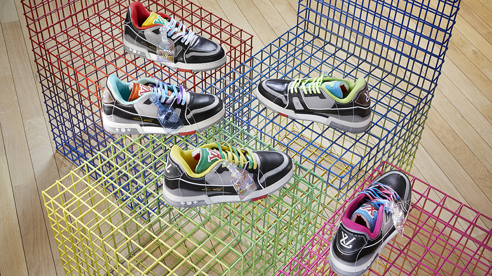 The exclusive LV Trainer colorways that will be available at Louis Vuitton's Paris pop-up