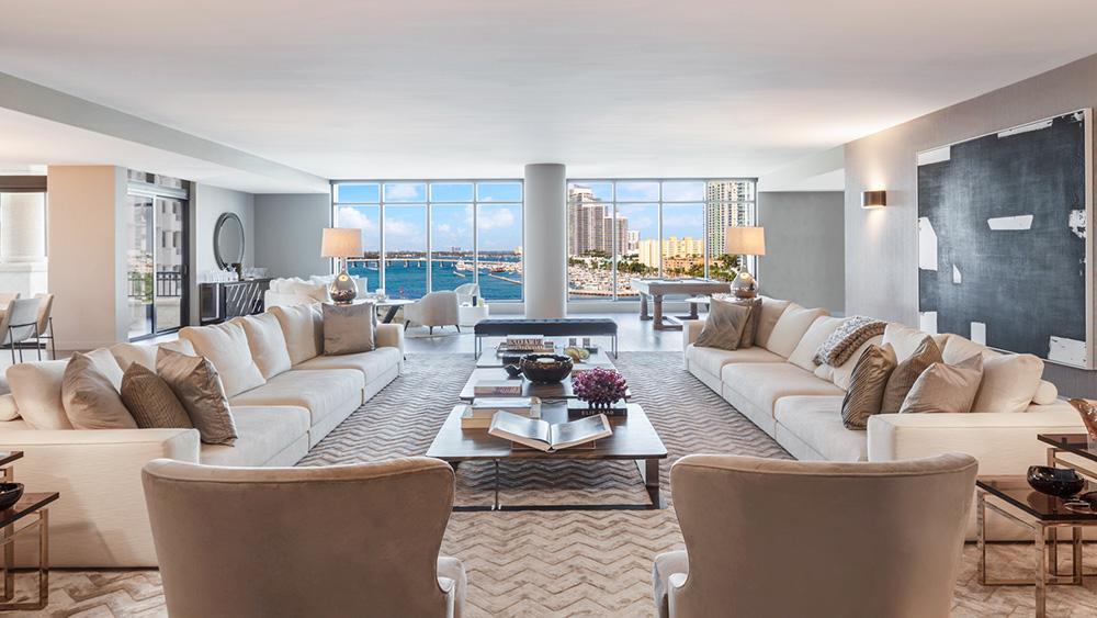 Home of the Week: Star Athletes Caroline Wozniacki and David Lee List Their Island Condo in Miami for $17.5 Million