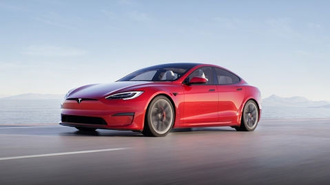 The redesigned Tesla Model S