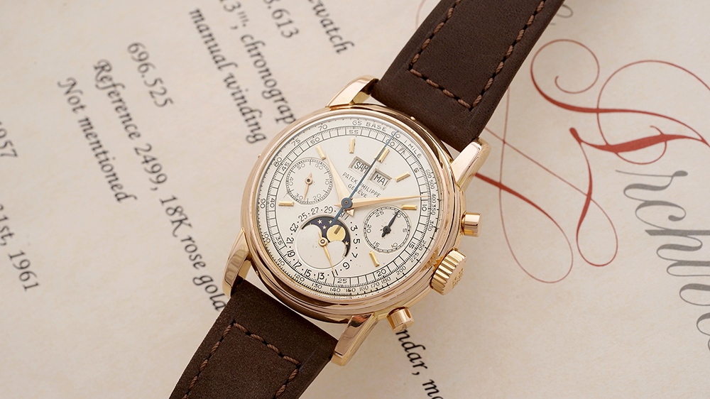 Patek Philippe Perpetual Calendar Chronograph Ref. 2499 in pink gold