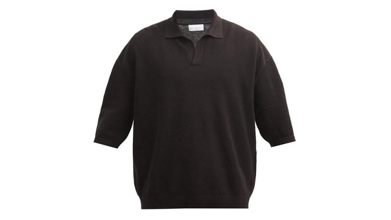 Raey Linen-Blend Polo Sweater