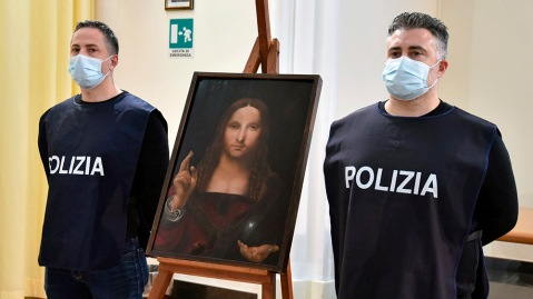 Italian police have recovered a stolen copy of Leonardo da Vinci's 'Salvator Mundi'