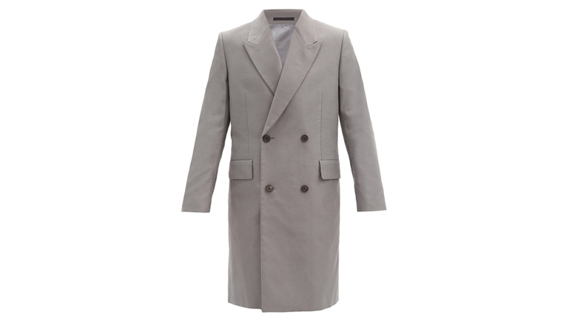 The Row 'Mickey' Double-Breasted Cotton Coat