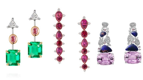 Thelma West, Vanleles and Cartier Earrings