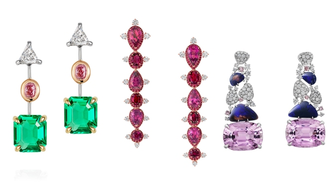 Thelma West, Vanleles and Cartier Earrings