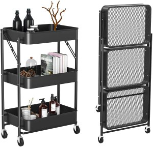Witacles Three-Tier Rolling Utility Cart