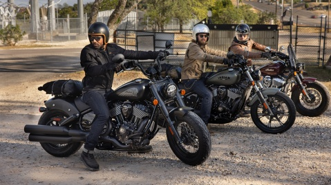 The 2022 Indian Chief, Chief Bobber and Super Chief motorcycles.