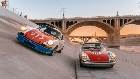 Image from photography series on urban racing in Los Angeles by Magnus Walker and photographer Daniel Malikyar for the Santo Gallery.