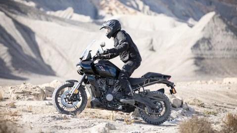 The 150 hp Harley-Davidson Pan America 1250 adventure bike.