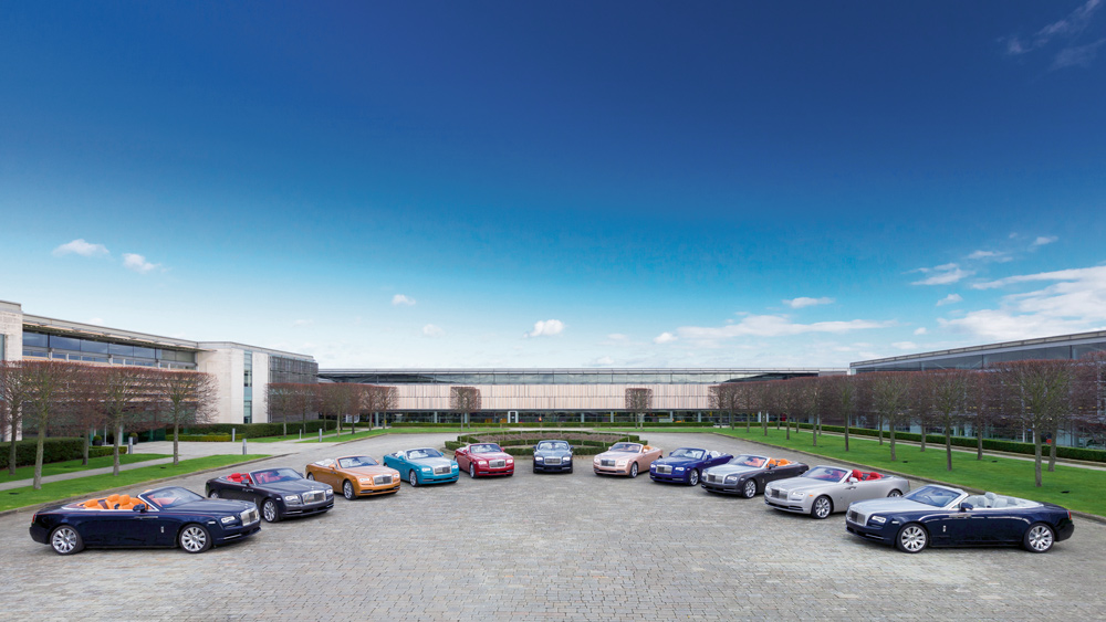 The headquarters for Rolls-Royce Motor Cars in Goodwood, UK.