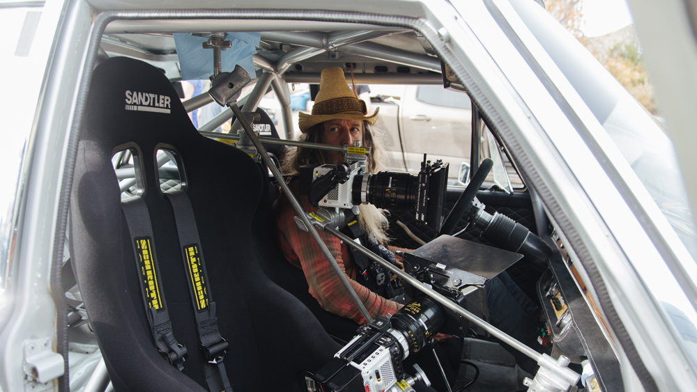 """Magnus Walker during filming of """"The Spirit of AMG: The Silber-Sau"""" by NativeFour."""