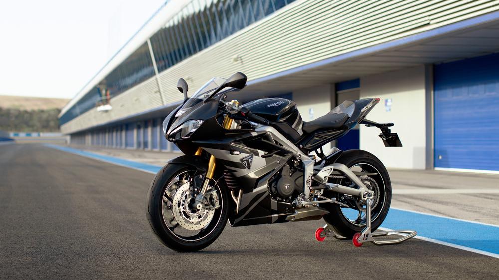 The Triumph Daytona Moto2 765 motorcycle.