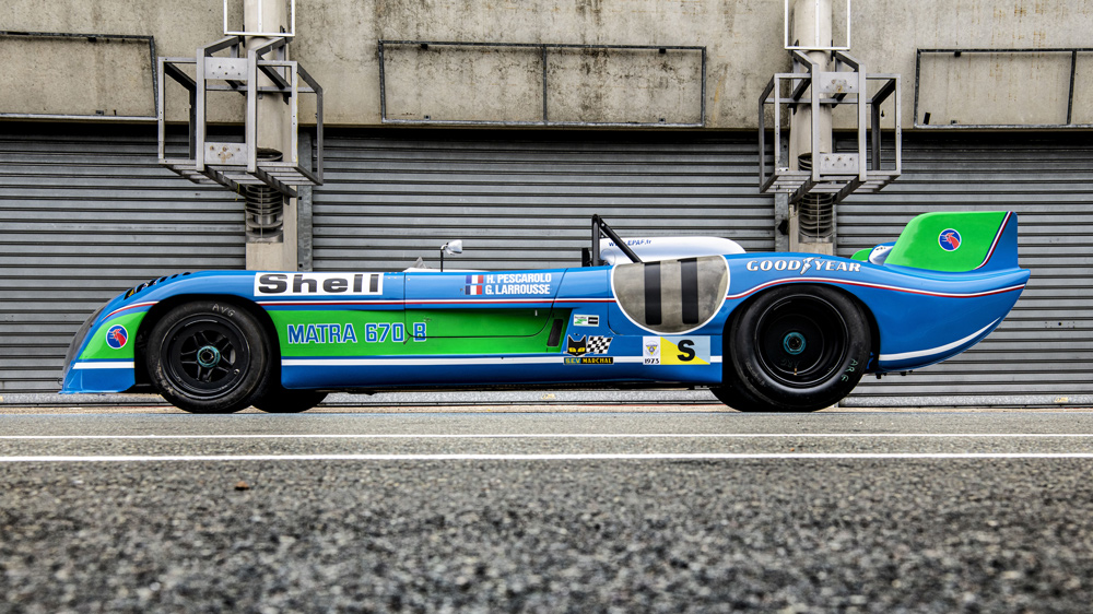 A 1972 Matra MS 670 race car.