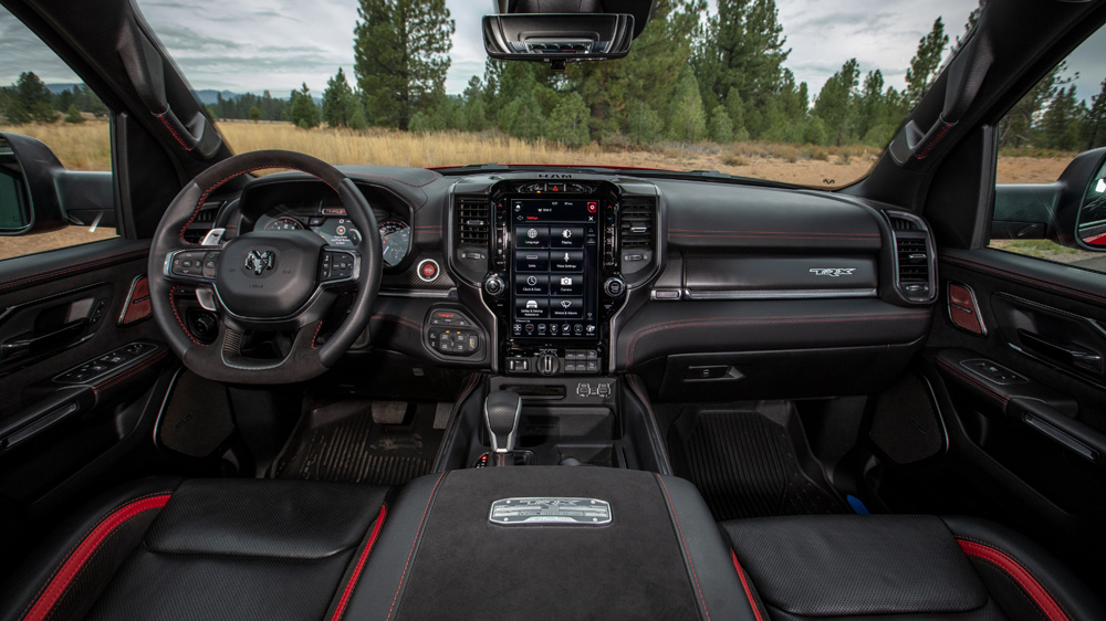 The interior of the 2021 Ram 1500 TRX.