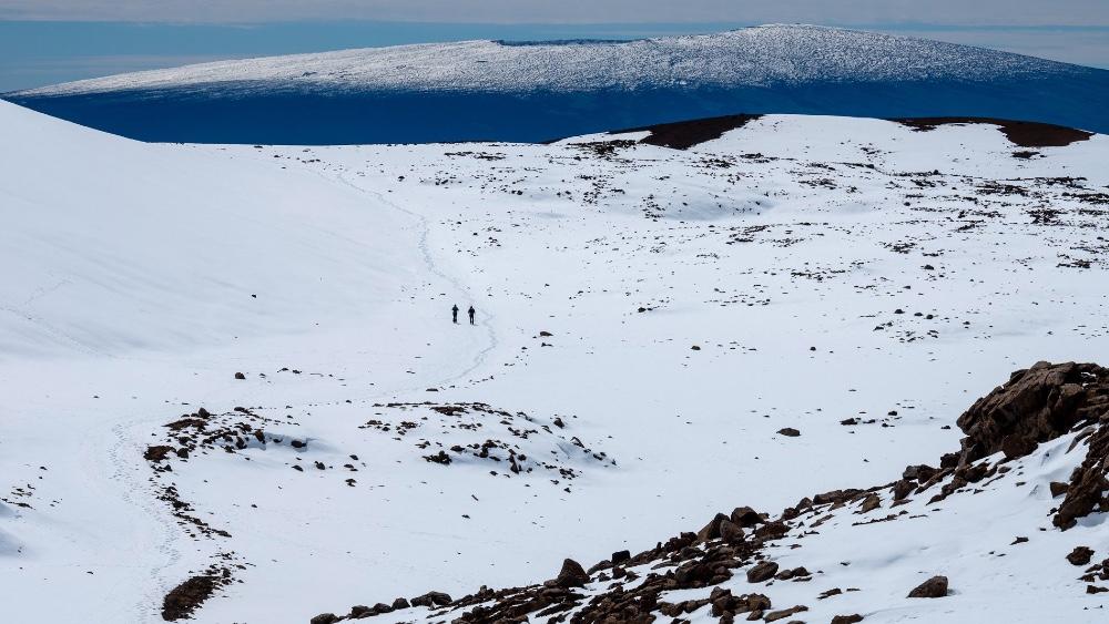 The Mauna Kea ascent involved submersibles, mountain bikes, ocean kayaking and mountain climbing.