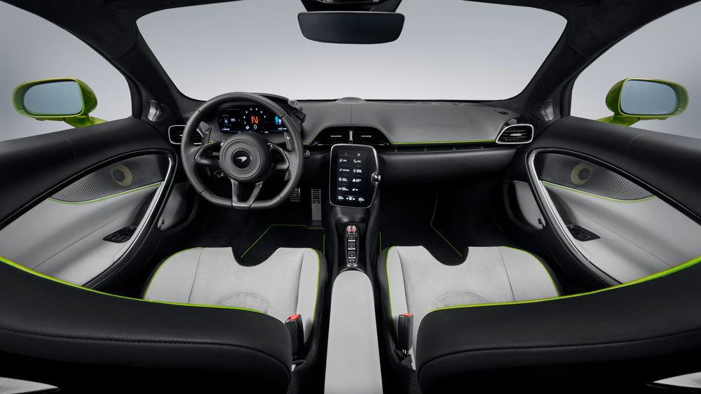 The interior of the McLaren Artura.