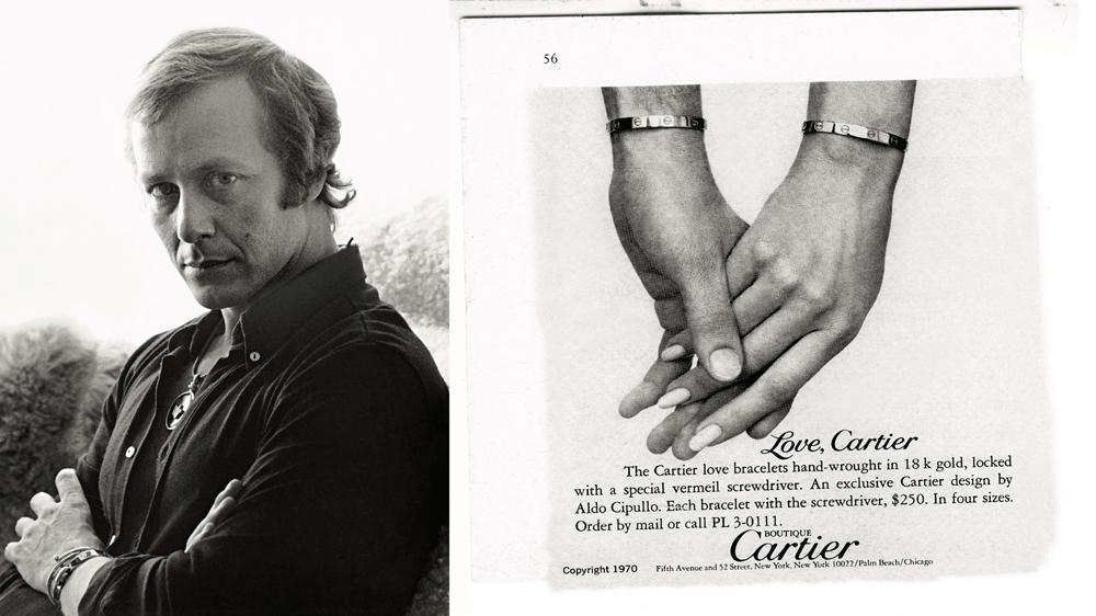 Aldo Cipullo; Cartier Love Bracelet Ad