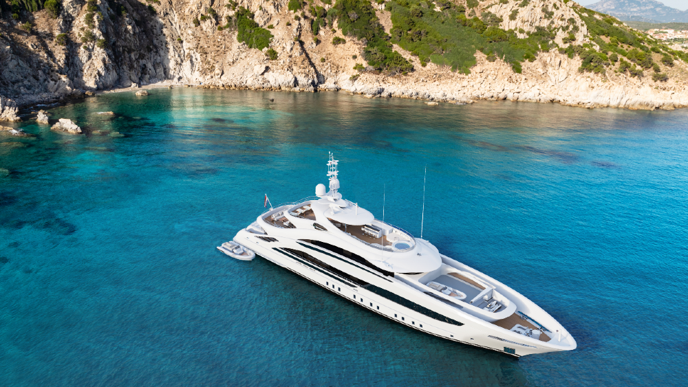 Yacht designers are using resourced materials instead of luxury finishes and furniture