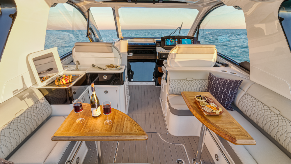 The Sundancer 370 Outboard is Sea Ray's newest model.