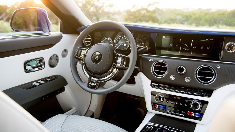 Inside the 2021 Rolls-Royce Ghost.