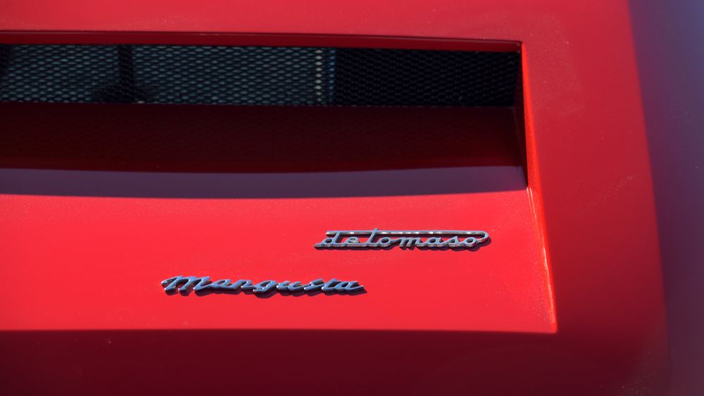 A detailed look at a 1970 De Tomaso Mangusta.