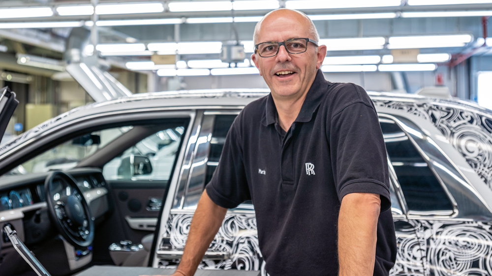 Martin Christie, Powertrain and Chassis Validation engineer at Rolls-Royce Motor Cars.