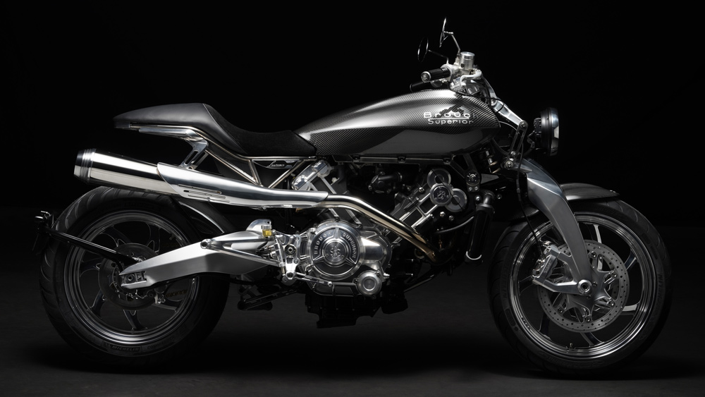 The Brough Superior Lawrence motorcycle.