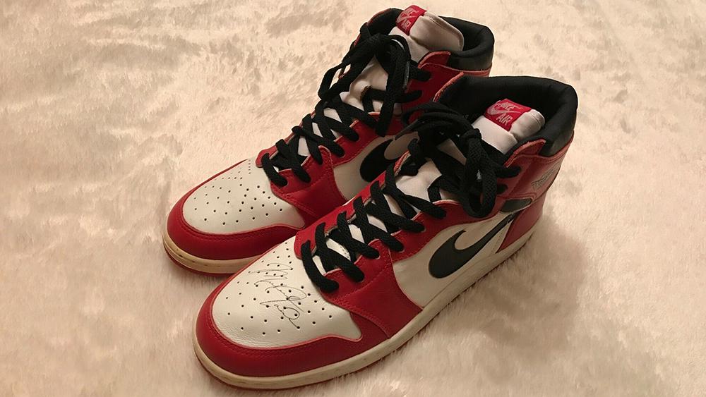 Air Jordan 1s Signed by Michael Jordan Listed on eBay for $1 ...