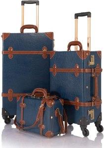 Cotrunkage 3-Piece Vintage Luggage Set