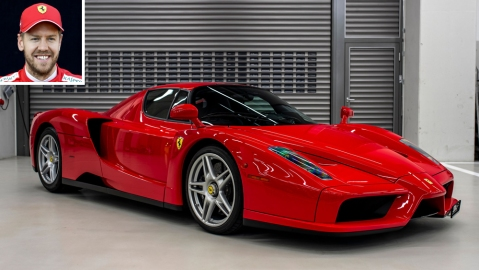 Sebastian Vettel and his 2004 Ferrari Enzo