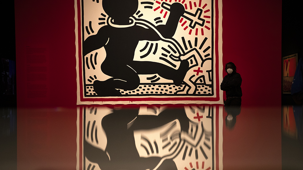 Keith Haring work at BOZAR museum in Brussels