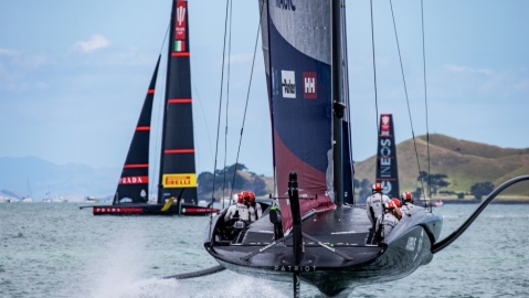 The US team American Magic were knocked out of the America's Cup