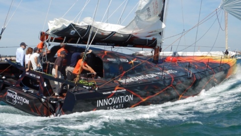 This sailing yacht is built out of volcano lava fibers