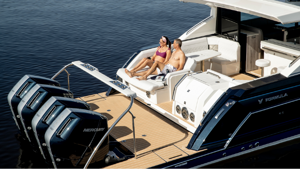 This 600-hp Mercury outboard is the largest, most sophisticated outboard ever designed.