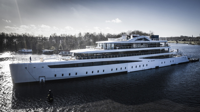 This New Fuel-Efficient Hybrid Superyacht Was Designed to Reduce Boating Emissions