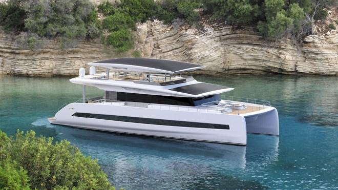 Silent 80 Tri-Deck Catamaran