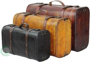Vintiquewise 3-Piece Vintage Luggage Set