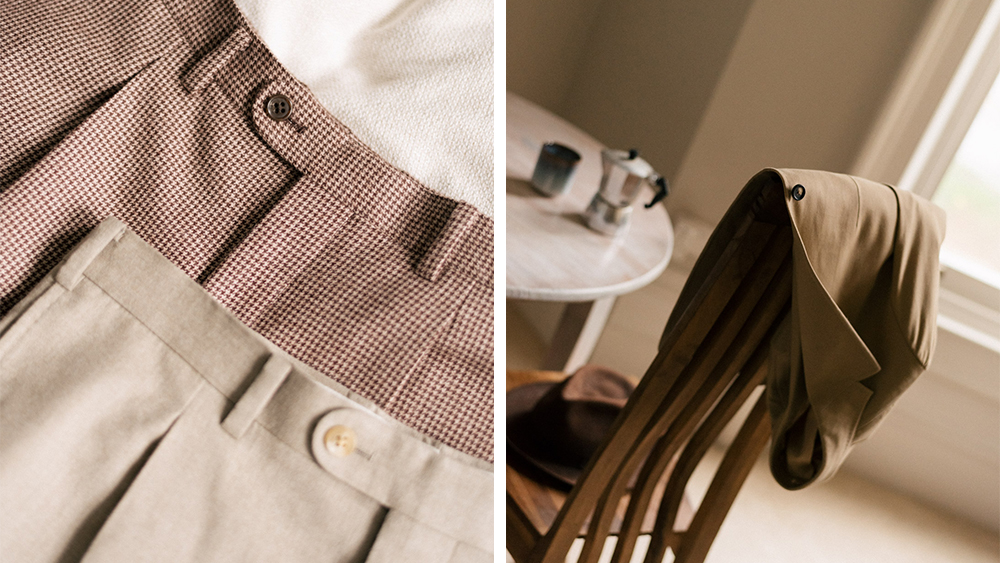 Details of Acre & Row's classic menswear.